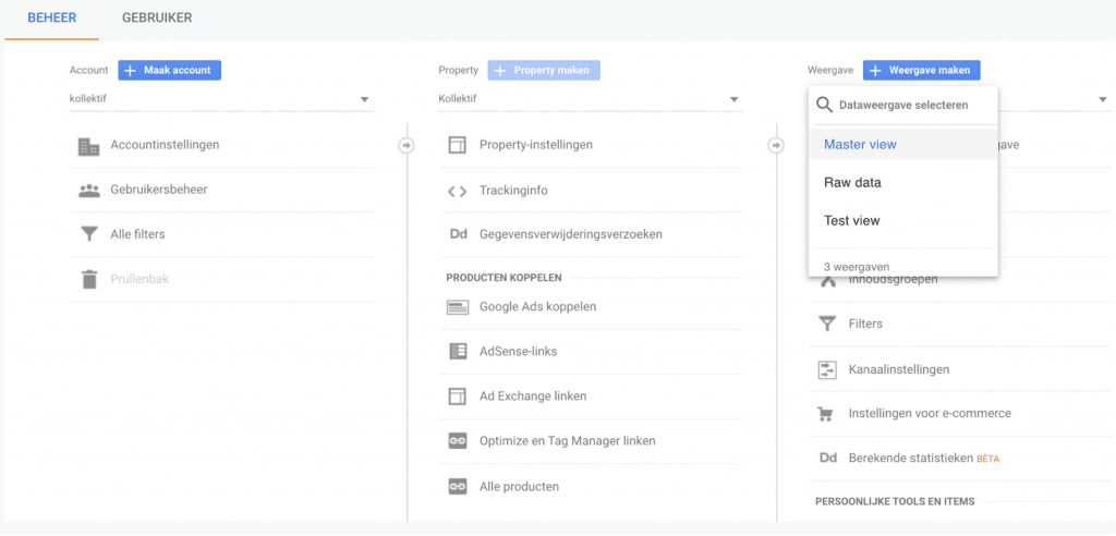 Google Analytics instellen Kollektif Media